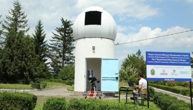 Посол США открыла первую в Украине сельскую школьную обсерваторию