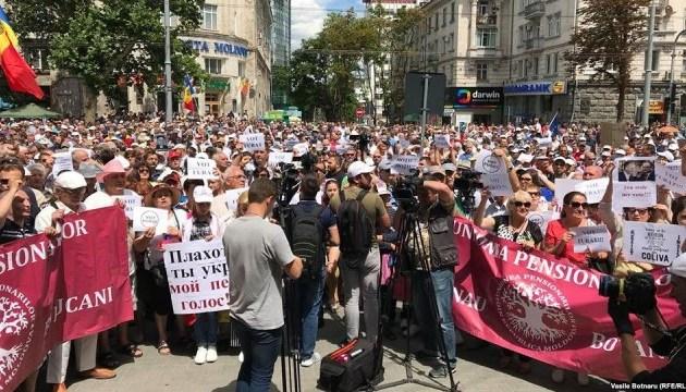 У Кишиневі знову протестують проти анульованих результатів виборів мера