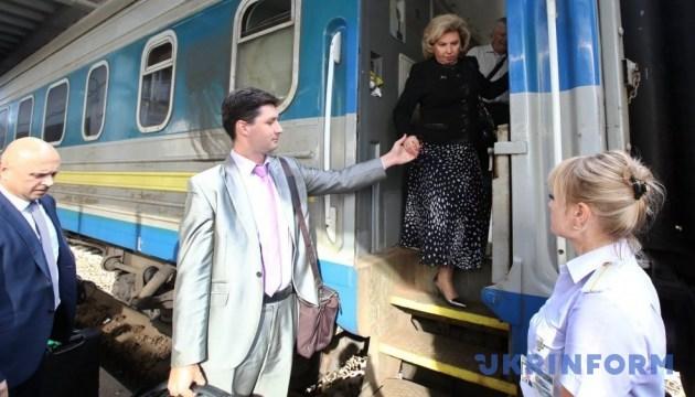 Москалькова прибула до Києва