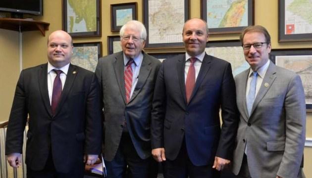 Parubiy discusses with U.S. congressmen mechanisms for supporting Ukrainian parliament