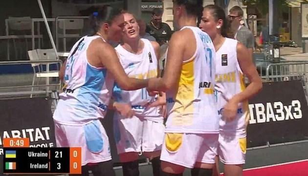 Жіноча збірна України з баскетболу 3х3 розгромила Ірландію у відборі на Євро