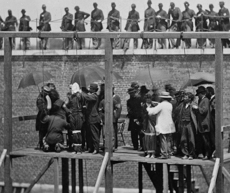 страчені четверо учасників змови проти президента США Авраама Лінкольна