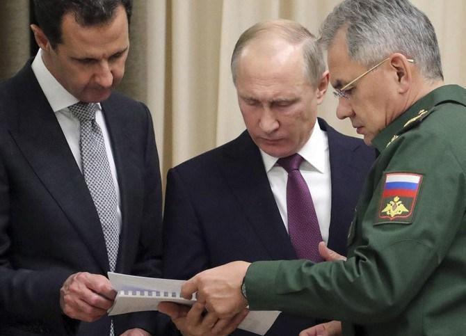 Башар Асад, Володимир Путін і Сергій Шойгу