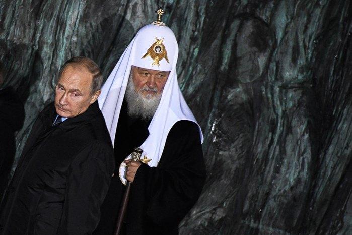 Владимир Путин (слева) и предстоятель Русской православной церкви Кирилл. Фото: EPA/UPG