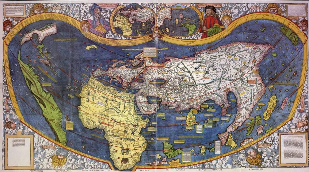 Рання карта Америки / Фото: Haiku Deck