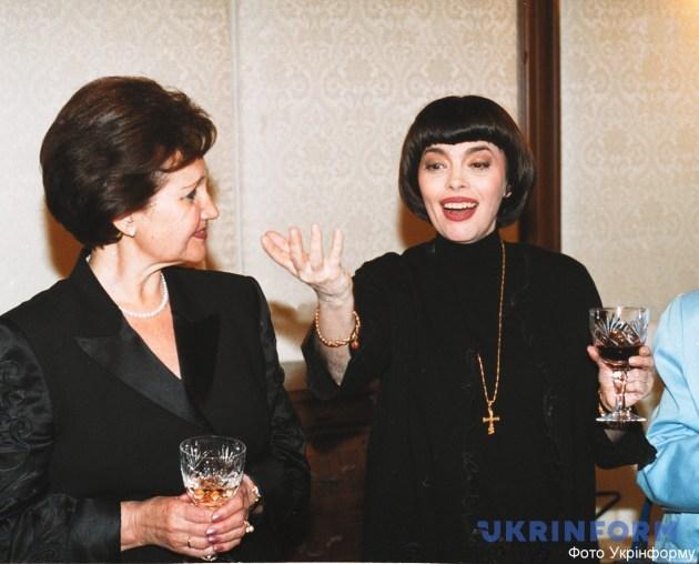Людмила Кучма та Мірей Матьє