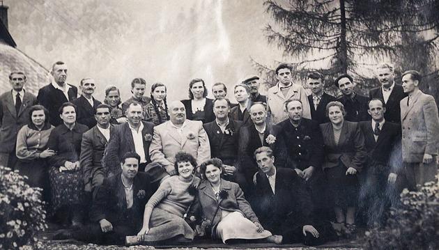 Іван Фірцак (Кротон, Іван Сила) приїжджав до Усть-Чорній на відпочинок; 1958 р.