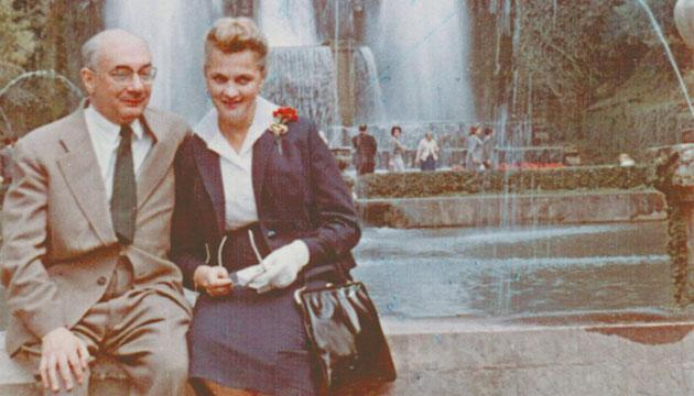 Микола Бажан з дружиною Ніною Лауер.