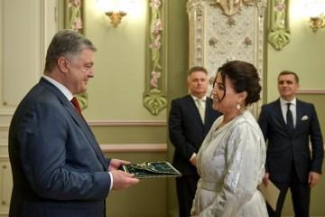 La nouvelle ambassadrice du Royaume du Maroc en Ukraine a remis ses lettres de créance à Petro Porochenko