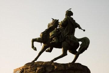 Aujourd'hui c'est le 130e anniversaire du monument à Bohdan Khmelnytsky à Kyiv