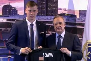 Real Madrid presents Ukrainian goalkeeper Lunin