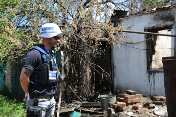OSCE records 34 explosions in Donbas over past day