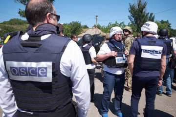 OSCE observes almost 200 weapons outside designated storage areas in occupied Donbas