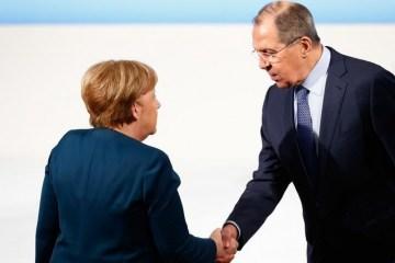 Lawrow spricht mit Merkel über Ukraine und Syrien
