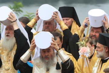 UOC-MP holds religious procession in Kyiv