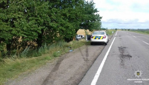 На Николаевщине легковушка протаранила дерево: двое человек погибли