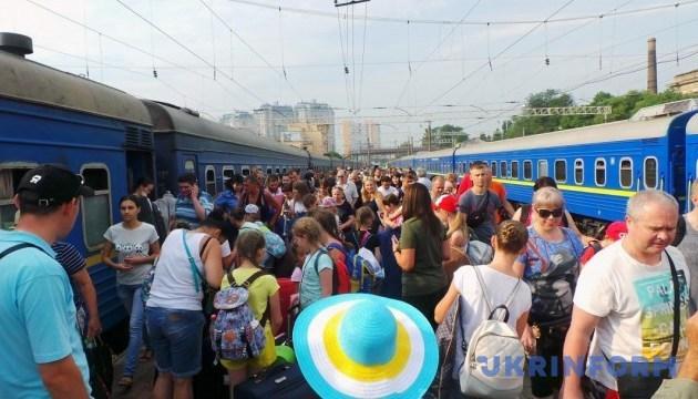 Укрзализныця этим летом перевезла 13,4 млн пассажиров