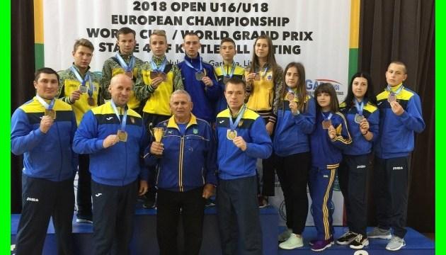 Украинские гиревики завоевали медали юношеского чемпионата Европы и Кубка мира