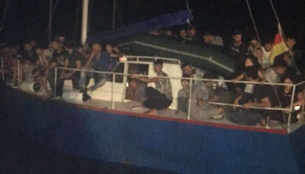 Ukrainian yacht with over 70 illegal migrants on board detained in Italy