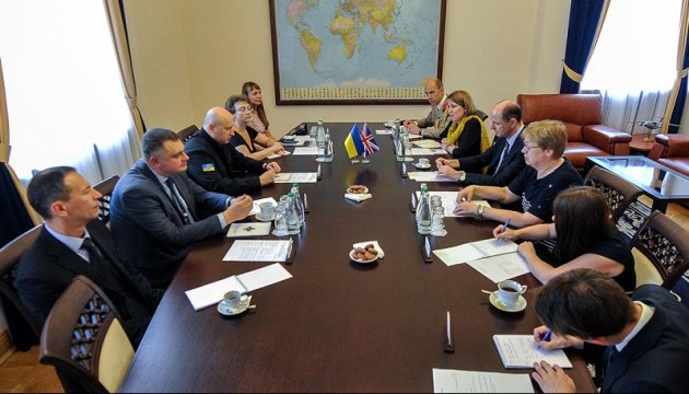 Oleksandr Turchynov, Philip Barton speak about Russian aggression in eastern Ukraine