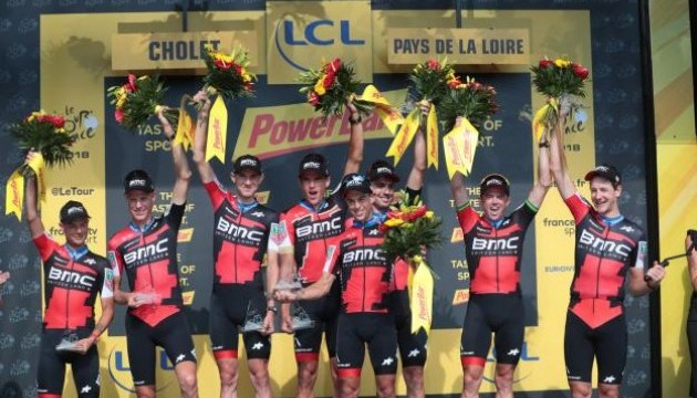Тур де Франс-2018: ВМС виграла командну гонку, ван Авермат новий лідер