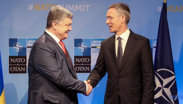Poroshenko hopes for NATO support on peacekeepers in Donbas