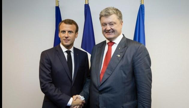 Emmanuel Macron a félicité Petro Porochenko et le peuple ukrainien à l'occasion de la fête de l'indépendance
