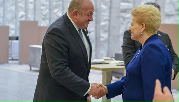 Grybauskaite unterstützt euro-atlantische Integration der Ukraine und Georgiens