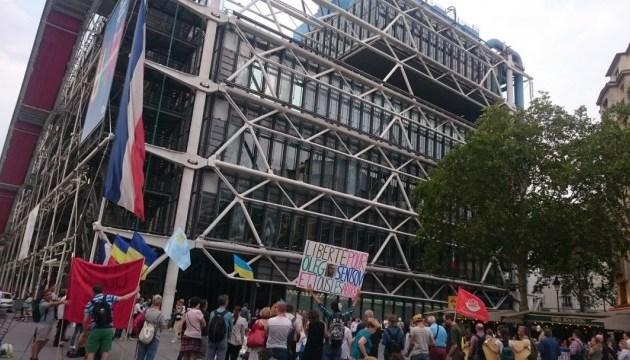 Le jour de l'anniversaire d'Oleg Sentsov, une manifestation en son soutien  a eu lieu à Paris