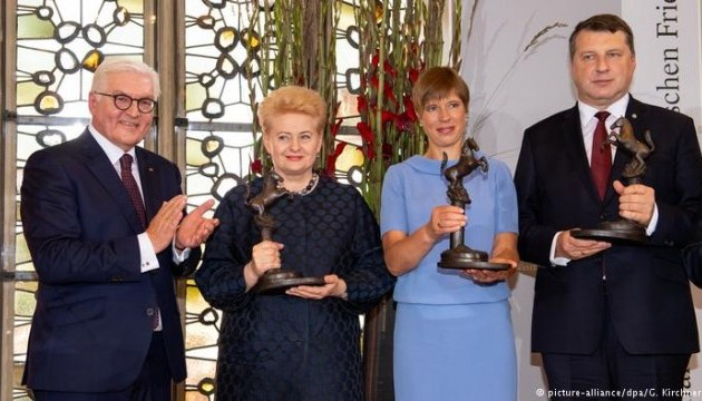 Вестфальську премію миру 2018 року вручили країнам Балтії та скаутам