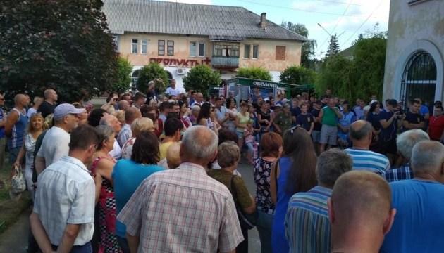 На Харківщині мітингуючі дали поліції тиждень на розслідування смерті активіста