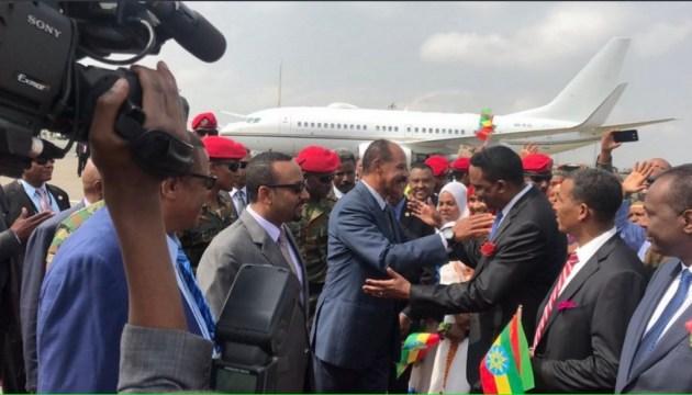 Президент Эритреи впервые за 22 года посетил Эфиопию