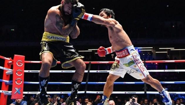 Бокс: Пакьяо нокаутував Маттіссе