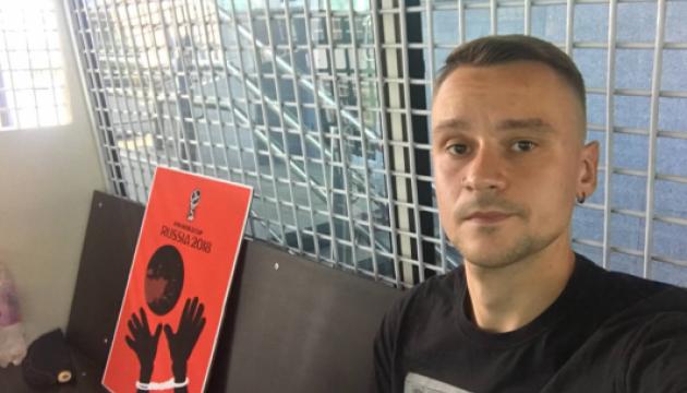В Петербурге на пять суток арестовали пикетчика за рисунок против ЧМ-2018