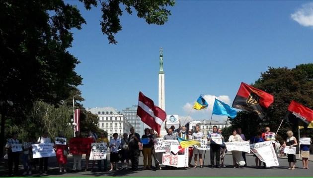 В Риге устроили перформанс в поддержку украинских политзаключенных