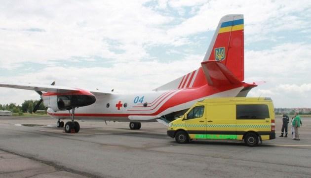 Спецлітак ДСНС транспортував тяжкохвору дитину з Ужгорода до Києва