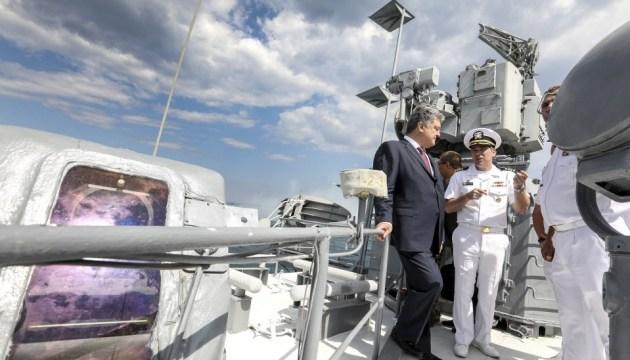 Порошенко в Одессе встретился с главнокомандующим вооруженных сил США в Европе