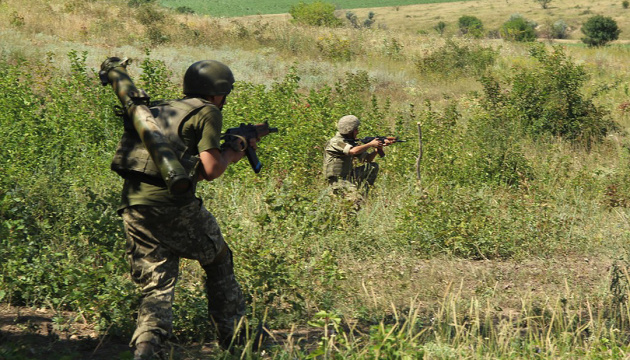 Militants launched 40 attacks on Ukrainian troops in Donbas in last day