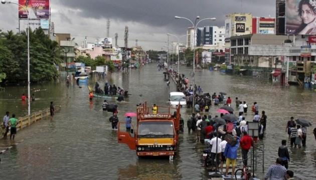 В Індії повінь забрала життя понад 500 осіб, пошкоджені 55 тисяч домівок