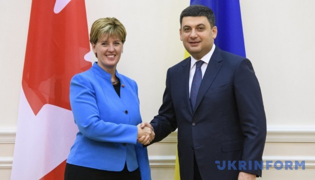 Ukraine feels Canada's support in countering Russian aggression, conducting reform - Groysman