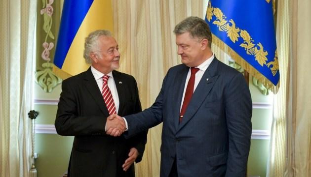 Porochenko a reçu les lettres de créance de l'ambassadeur du Luxembourg