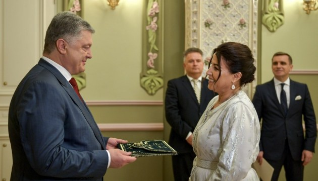 El presidente de Ucrania recibe las credenciales de los embajadores de Luxemburgo, Kirguistán y Marruecos (Fotos)