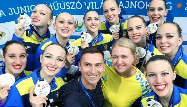 Збірна України U-18 з синхронного плавання стала другою на ЧС-2018