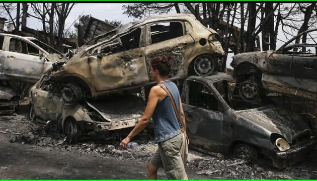 Лісові пожежі в Греції: ідентифіковано тіла 76 загиблих
