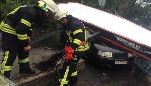 Повалені дерева і підтоплені будинки: рятувальники Києва ліквідовують наслідки негоди