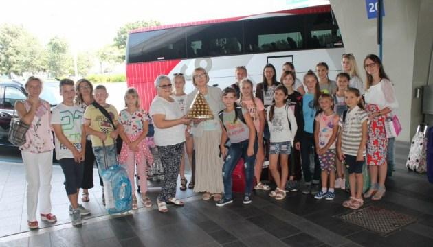 До Риму прибула група українських дітей з метою оздоровлення