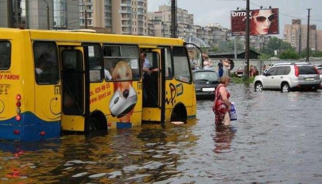 В КГГА предупредили об очередной грозе и подтоплениях в столице