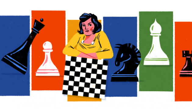 Google нагадав світові про українську чемпіонку світу з шахів Людмилу Руденко
