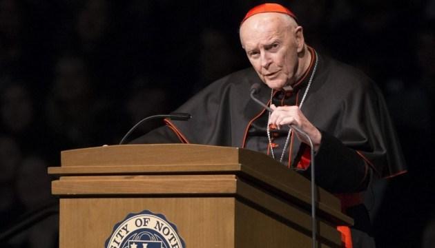 Кардинал з Вашингтона пішов у відставку через секс-скандал з неповнолітнім
