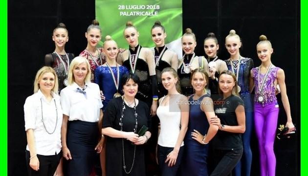 Збірна України з художньої гімнастики успішно виступила на турнірі у Італії